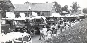 Trucks onder het zandpad vanaf 1983