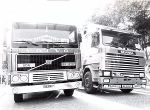 Truckshow Middelharnis Volvo en Scania vanaf augustus 1984